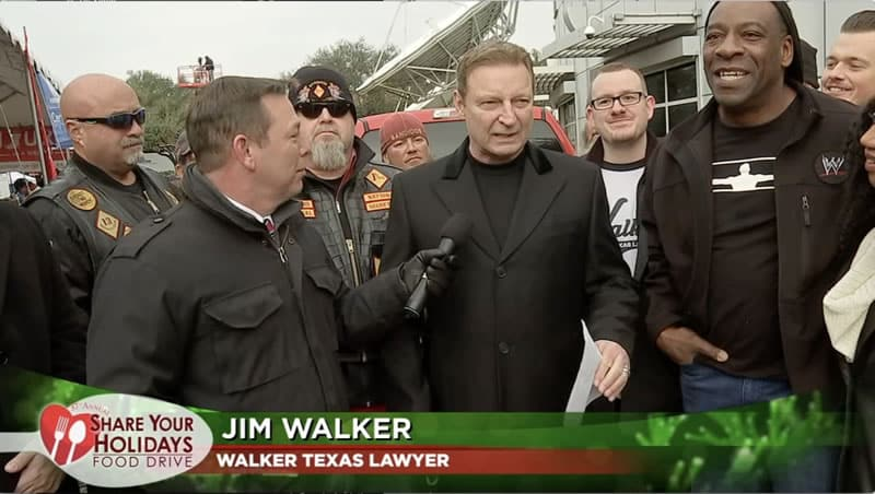 Houston Lawyer, Motorcycle Community and Wrestler Fight Hunger