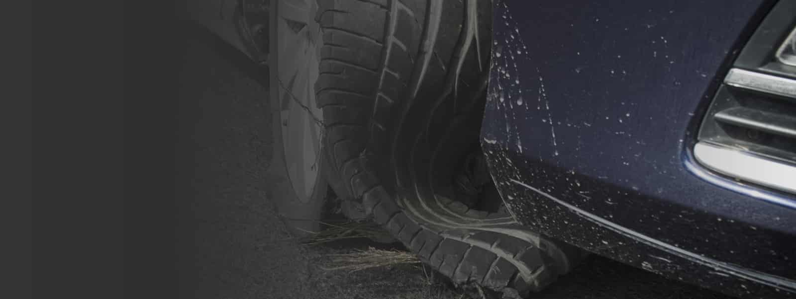 Truck Tire Blowout