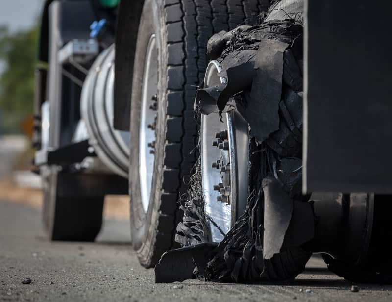 Truck Tire Blowout - Houston Trucking Accident Lawyer