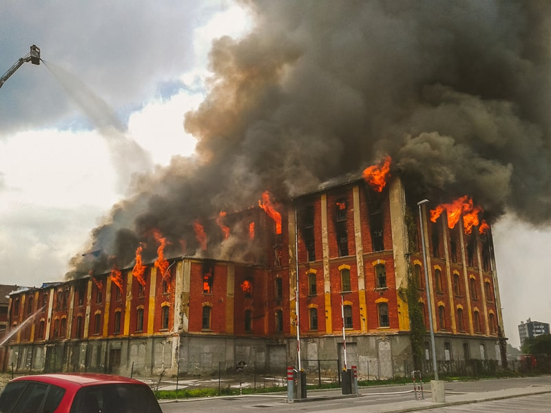 Warehouse chemical explosion